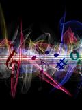 Music Clef Sheet Reproduction procédé giclée par  Wonderful Dream
