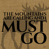 The Mountains Are Calling And I Must Go Posters by Marilu Windvand