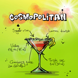 Cosmospolitan Cocktail Poster by  Wonderful Dream