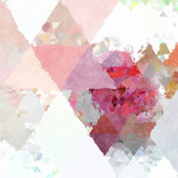 Triangles Abstract Pattern - Square 11 Print by  Grab My Art