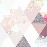 Elegant Pink Glitter Pattern - Square Print by  Grab My Art