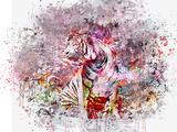 Crazy Tiger Plakat af  Lebens Art