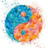 Yin Yang - Square Julisteet tekijänä  Lebens Art