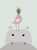 Hippo Posters av  Nanamia Design