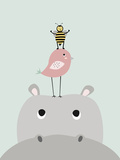 Hippo Posters by  Nanamia Design