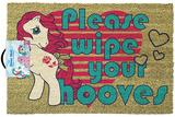 My Little Pony - Retro Please Wipe Your Hooves Door Mat Gadget