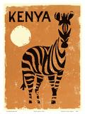 Kenya, Africa - Zebra Poster di  Pacifica Island Art