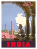 India - Lloyd Triestino Italian Shipping Company Posters por Gino Boccasile