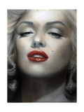 Marilyn: Red Lips Posters by  Shen