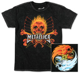 Metallica - Fire and Ice Mineral Wash Tシャツ