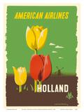 Holland - American Airlines - Tulips ポスター : エドワード・マクナイト・コッファー