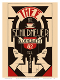 Thee (Tea) - Schildmeijer Cafe - Amsterdam, Netherlands - Art Deco Poster von  Pacifica Island Art