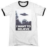 The X-Files- Believe Poster Ringer T-shirts