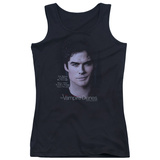 Juniors Tank Top: Vampire Diaries- Damon Killing The Messenger Womens Tank Tops