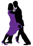 Ballroom Dancers Silhouette Cardboard Cutouts