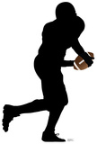 Football Player Running Silhouette Cardboard Cutouts