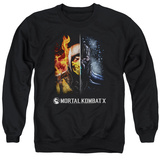 Crewneck Sweatshirt: Mortal Kombat- Fire And Ice T-shirts