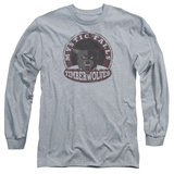 Long Sleeve: Vampire Diaries- Mystic Falls Timberwolves Patch Long Sleeves