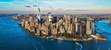 New York between Sky & Sea Poster von Philip Plisson