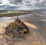 Mont-Saint-Michel Art by Philip Plisson