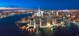 New York Downtown by Night Plakater av Philip Plisson