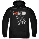 Hoodie: Sons Of Anarchy - Rip Through Pullover Hoodie