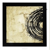 Gold Eclipse I Stretched Canvas Print by Jenna Guthrie