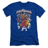 Power Rangers: Ninja Steel- Team Lineup Slim Fit T-Shirt