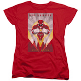 Womens: Power Rangers- Red Deco Shirts