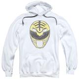 Hoodie: Power Rangers- Original White Ranger Mask Pullover Hoodie