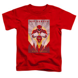 Toddler: Power Rangers- Red Deco T-shirts
