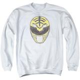Crewneck Sweatshirt: Power Rangers- Original White Ranger Mask T-shirts