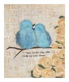 Pájaros azules Láminas por Cassandra Cushman