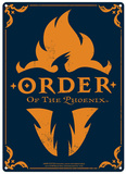 Harry Potter - Order of the Phoenix Metalen bord