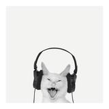 Rockin' Kitten Poster di Jon Bertelli