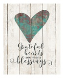Grateful Hearts Pósters por Jo Moulton