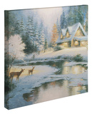 Deer Creek Cottage Gallery Wrapped Canvas por Thomas Kinkade