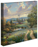 Country Living Custom Stretched Canvas Print by Thomas Kinkade