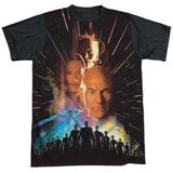 Star Trek: The Next Generation- First Contact Poster Black Back T-Shirt