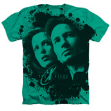 X Files- Mulder And Scully Ink Blot (Premium) Shirt