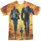 Valiant: Quantum And Woody- Fire It Up T-shirts