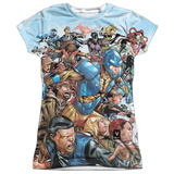 Juniors: Valiant Comics- 25Th Anniversary Hero Collection Womens Sublimated