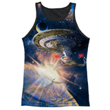 Tank Top: Star Trek:Next Generation- Galaxy Class Black Back Tank Top