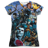 Juniors: Valiant- Universe Of Heroes Womens Sublimated