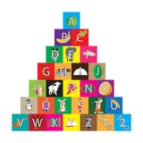 Children's Alphabet Building Blocks Isolated on White Posters tekijänä Bernard Rabone