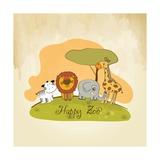Happy Zoo Kunstdrucke von  Balasoiu