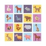 Farm Animals Set Láminas por  Macrovector