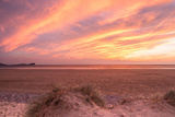 Sunset at Llangennith Beach,Rhossili Bay,Gower,Wales Fotografisk trykk av Paul Quayle