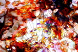 Music Note and Space with Stars. Fire Flames and Abstract Color. Music Concept 写真プリント : Jozef Klopacka