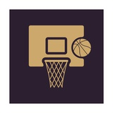 The Basketball Icon. Game Symbol. Flat 高品質プリント : Vladislav Markin